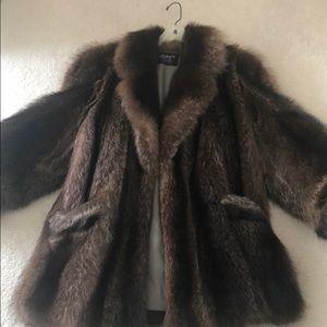 Karkazis Raccoon fur coat vintage